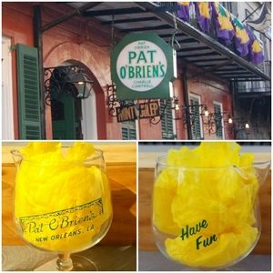 Two (2) Pat O'Briens New Orleans Glass